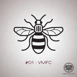 Manchester bee logo for Village Manchester Football Club (VMFC) , made famous for its symbolism after the Manchester Arena Attack in May 2017.