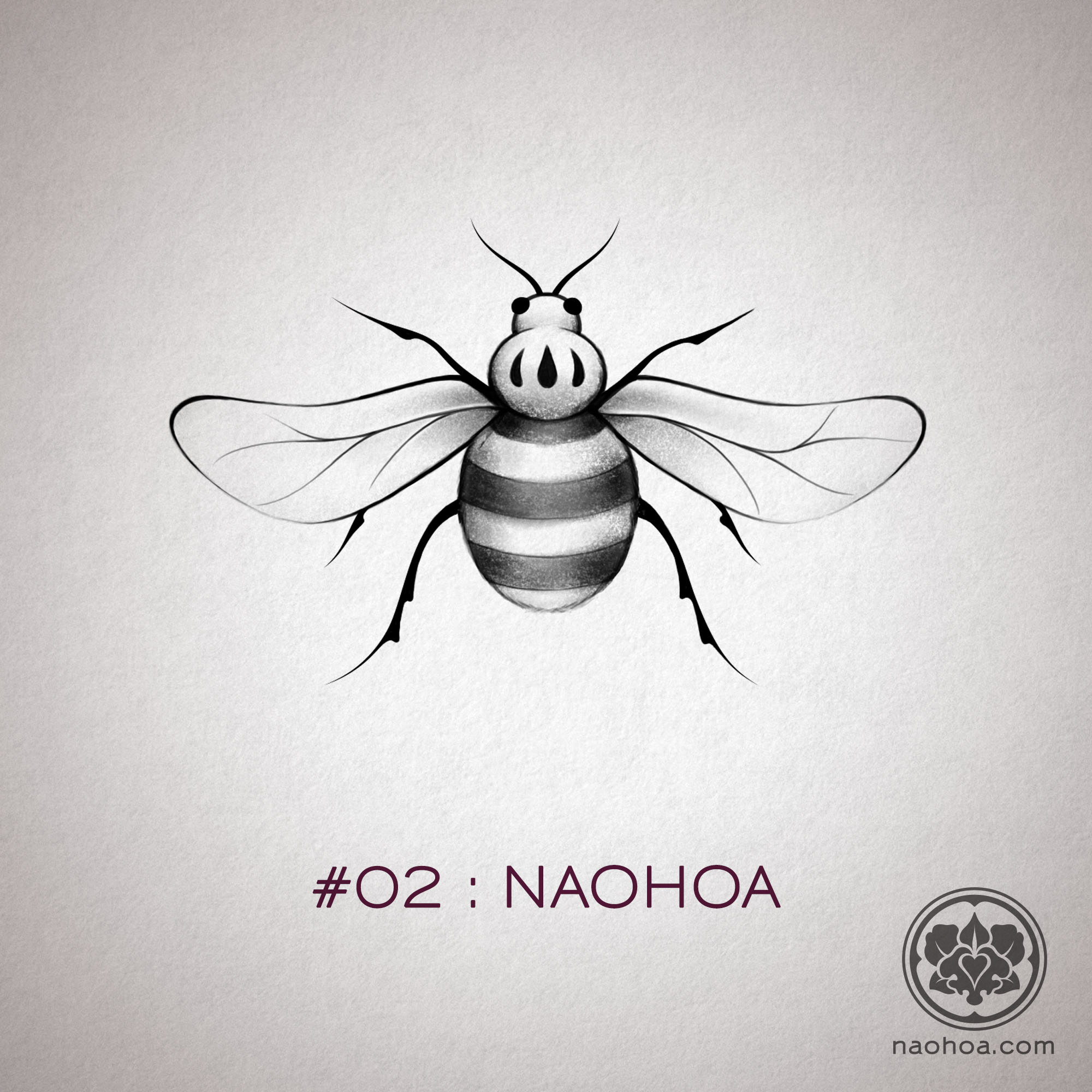 Manchester bee alternative design by Naomi Hoang, available as a temporary tattoo to raise funds for families affected by the Manchester Arena Attack in May 2017.
