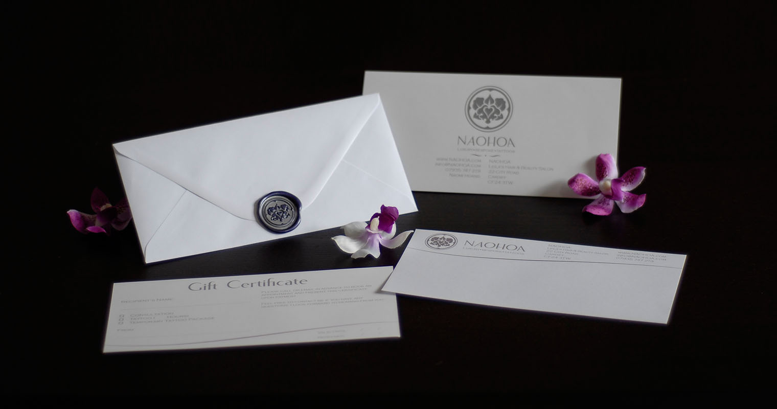 Gift Certificates with a hand-made wax seal