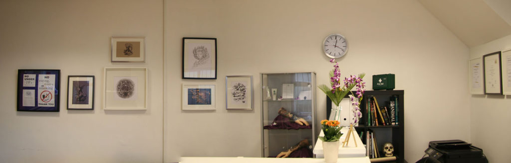 Panoramic photo of NAOHOA Luxury Bespoke Tattoos, Cardiff, Wales (UK).
